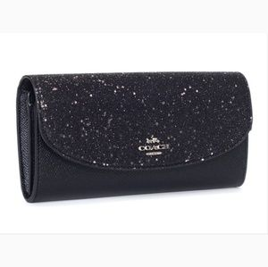 NWT Coach Star Glitter Slim Envelope